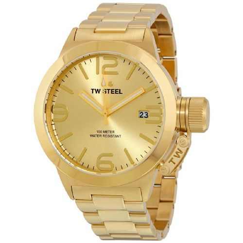 TW STEEL Canteen 50mm Gold Gents Watch CB102